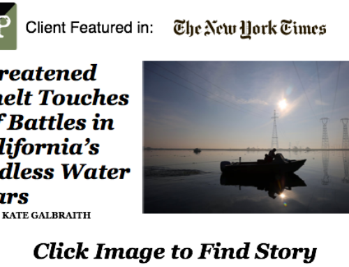 Threatened Smelt Touches Off Battles in California's Endless Water Wars – NEW YORK TIMES